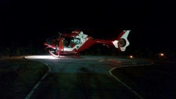 Corpo de Bombeiros faz resgate no heliponto do Residencial